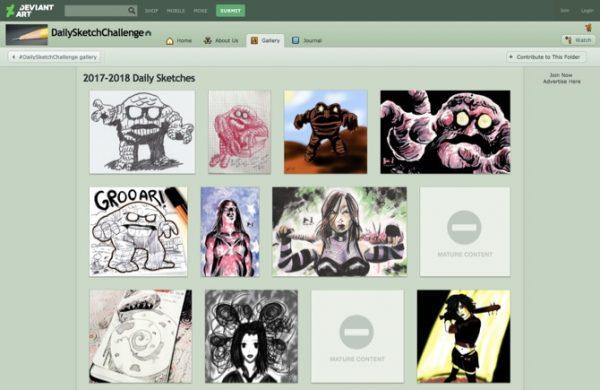 DeviantArt Daily Sketch Challenge 600x390 - با 10 سرویس آنلاین آموزش نقاشی آشنا شوید