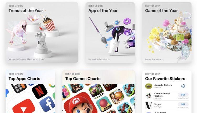 محبوبترین اپلیکیشن های سال 2017 اپ استور