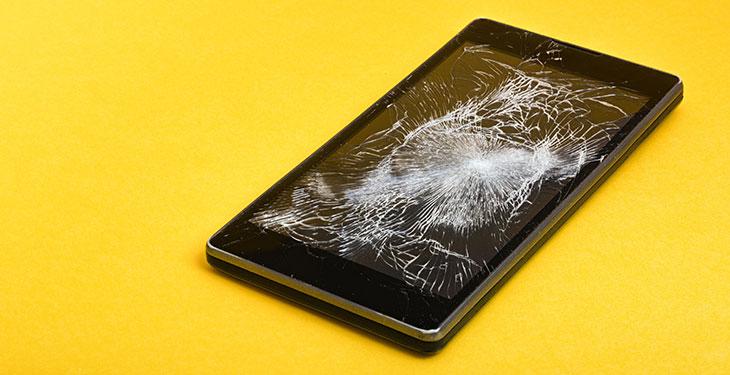 breaked phone