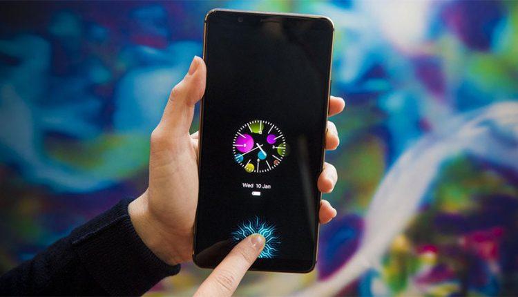 گوشی ویوو با اسکنر اثر انگشت داخل نمایشگر