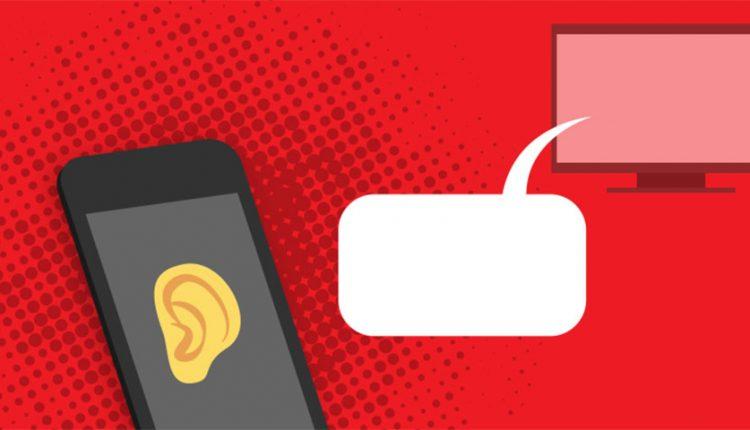 گوش دادن اپ ها به تلویزیون