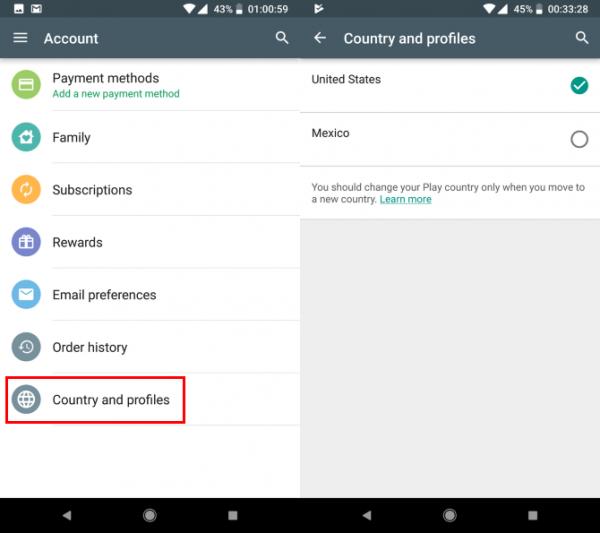 چطور کشورتان را در گوگل پلی استور تغییر دهید؟