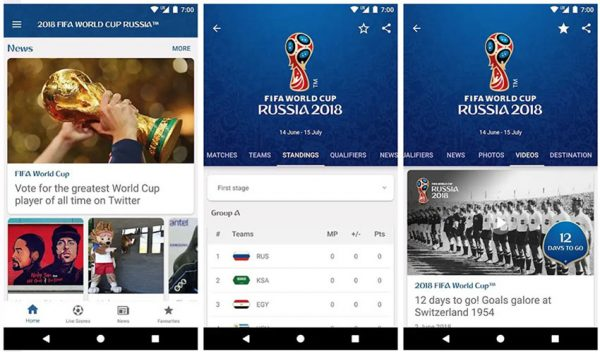 2018 FIFA World Cup Russia™ Official App