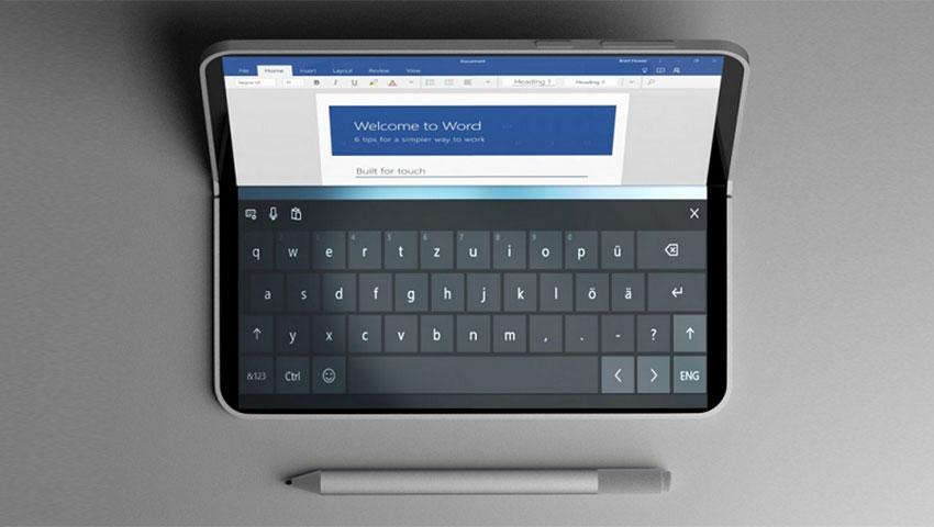 تصاویر جدید سرفیس فون این گوشی را در حالت لپتاپ و گیمینگ نشان میدهد