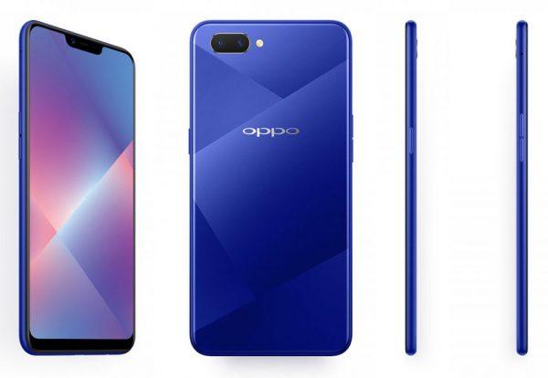 Oppo A5 Blue 600x414 - اوپو ای 5 رسماً معرفی شد؛ میانرده جدید اوپو با باتری 4230 میلی آمپری