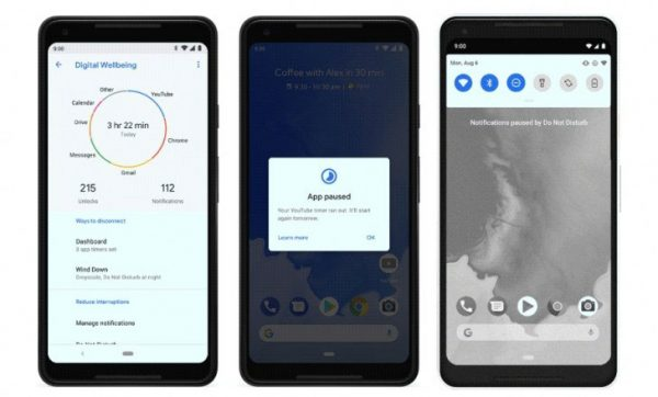 Android 9 Pie 5 600x362 - نسخه جدید اندروید به نام اندروید 9 پای (Android 9 Pie) منتشر شد
