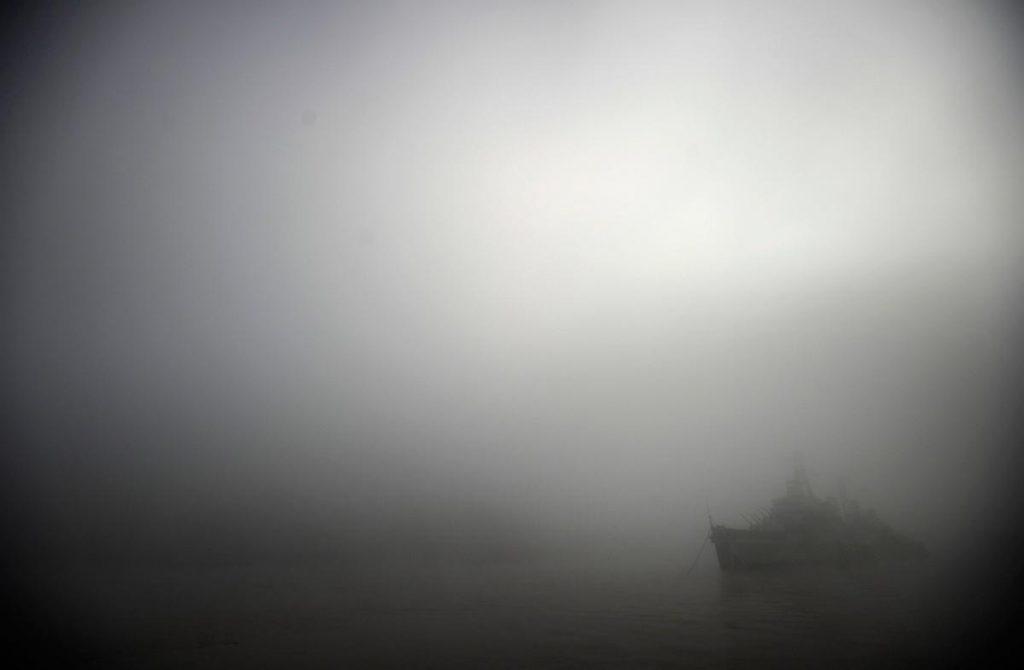 مه شدید در یکی از رودخانه های شهر لندن