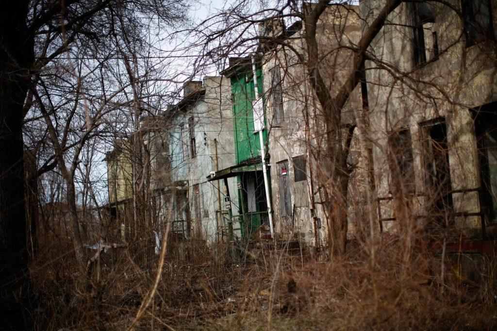 خانه های رها شده در شهرایندیانا، ایالات متحده آمریکا