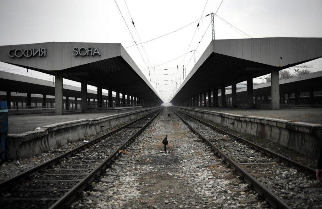 ایستگاه مرکزی صوفیه در جریان اعتصاب کارگران راه آهن در بلغارستان