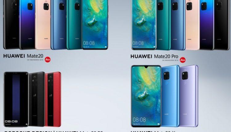 Huawei Mate 20 family 750x430 - هواوی میت 20 ایکس با نمایشگر 7.2 اینچی و قلم رونمایی شد؛ رقیبی برای گلکسی نوت 9