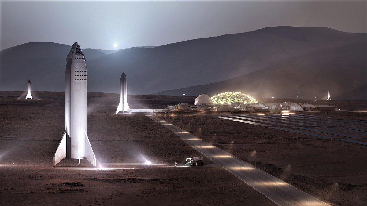 مریخ آینده از دید اسپیس ایکس