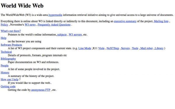 اولین صفحه وب