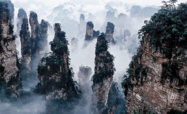 مکانهای دیدنی جهان:کوههای تیانزی