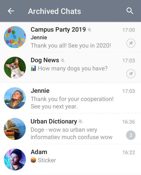 t بایگانی تلگرام کجاست !؟ پیام های آرشیو شده در تلگرام کجا میرن؟