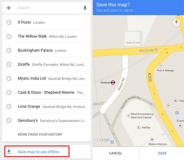 استفاده از گوگل مپ به صورت آفلاین