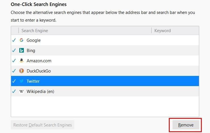 تغییر موتور جستجوی پیش فرض در فایرفاکس