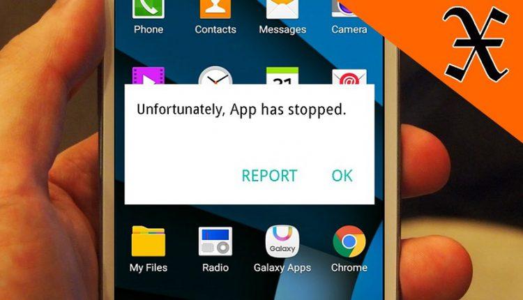 """حذف پیام """"Unfortunately, App Has Stopped"""""""