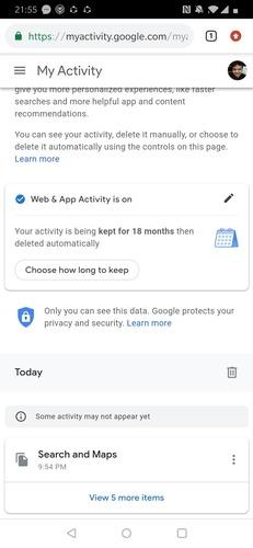 حذف دادهها و سوابق جستجو در کروم