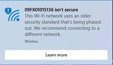 """برطرف کردن مشکل """"Your Wi-Fi Network Isn't Secure"""""""