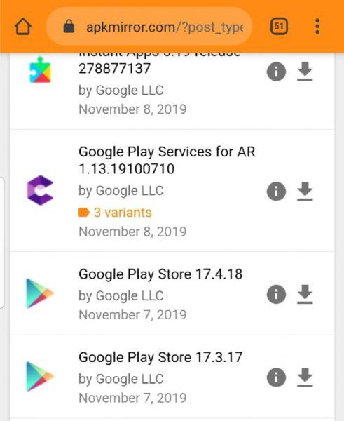 نصب برنامه گوگل پلی به صورت دستی