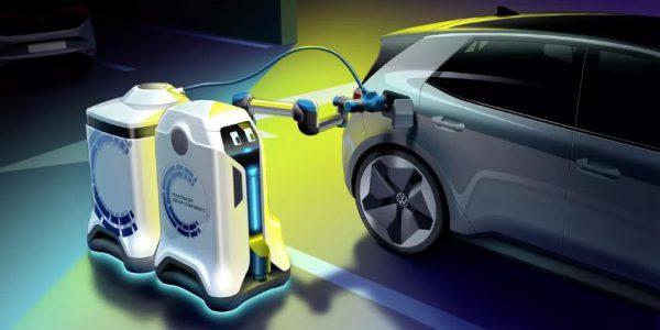 ربات شارژ کننده خودرو