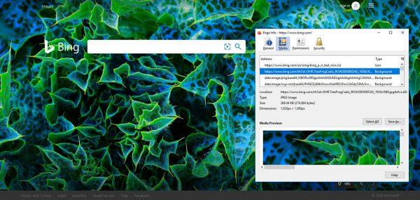 تصویر زمینه بینگ در فایرفاکس