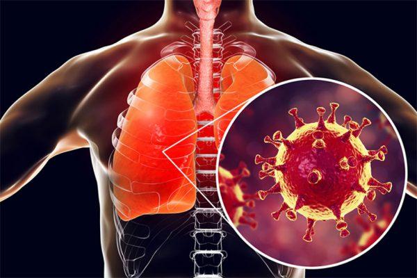 ویروس در ریه انسان