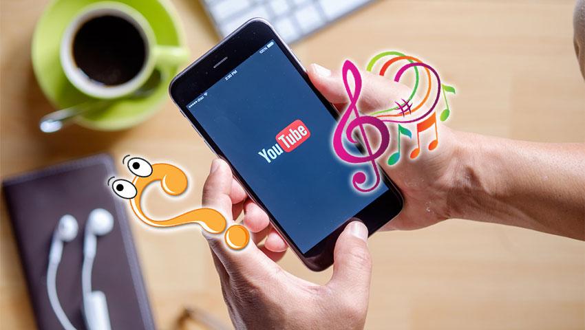نام آهنگ پخش شده در ویدیوهای یوتیوب