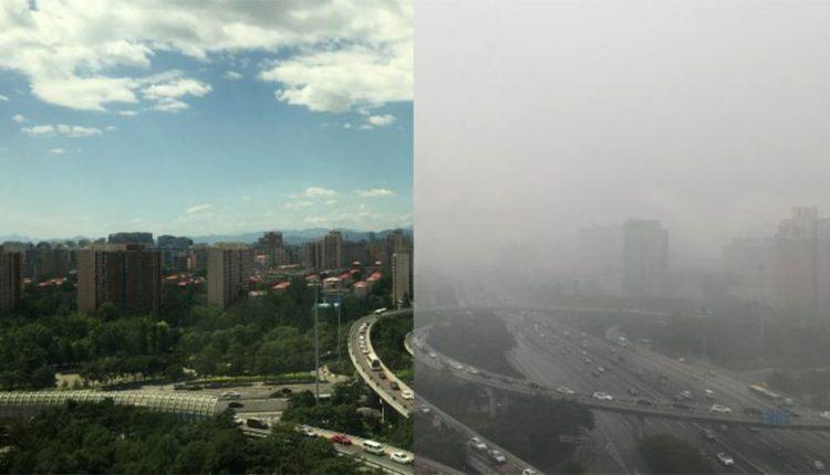 کاهش آلودگی هوای چین