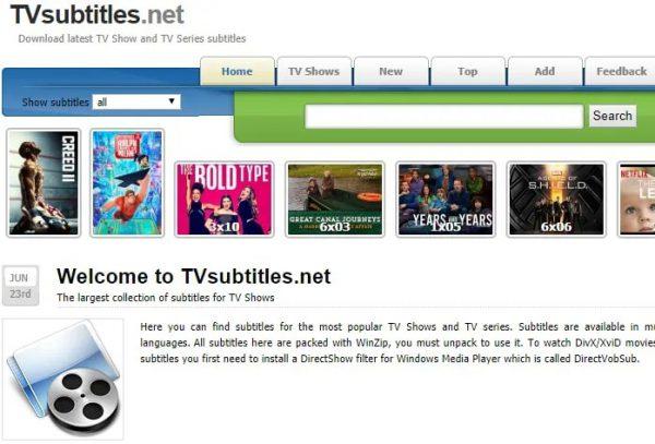 سایت TVSubtitles.net