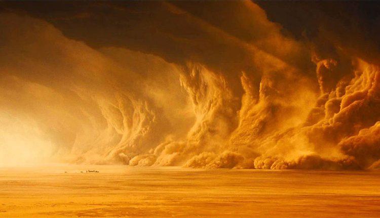 طوفان شن از فضا چطور دیده میشود