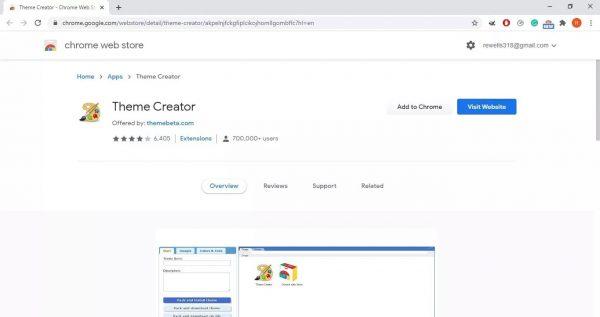 نحوه ساخت تم برای مرورگر گوگل کروم 1