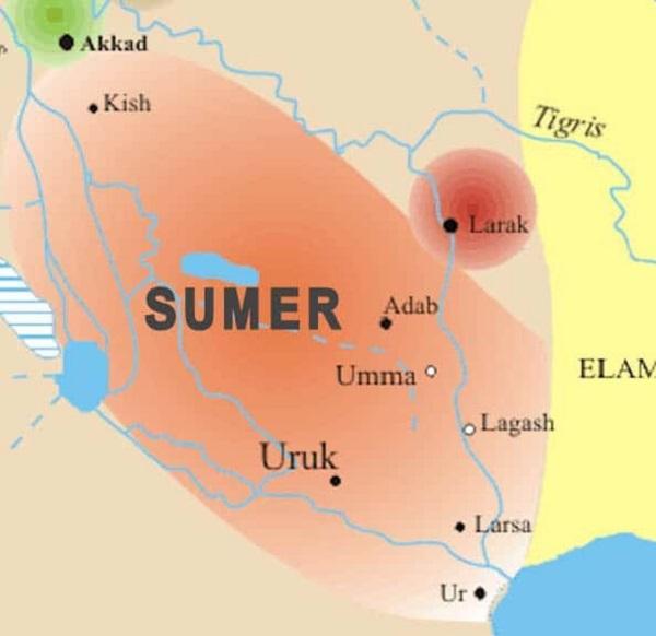 ارووک بزرگترین شهر سومریها