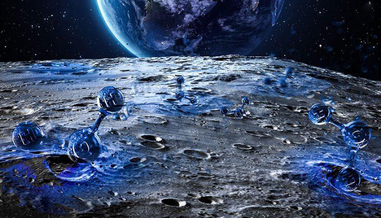 وجود آب در سراسر کره ماه