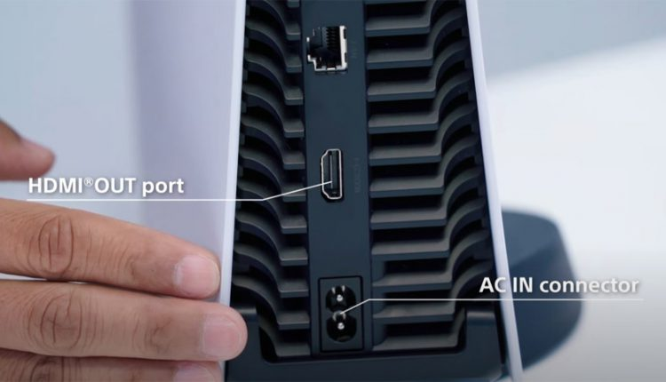 پورتهای برق و HDMI پلی استیشن 5