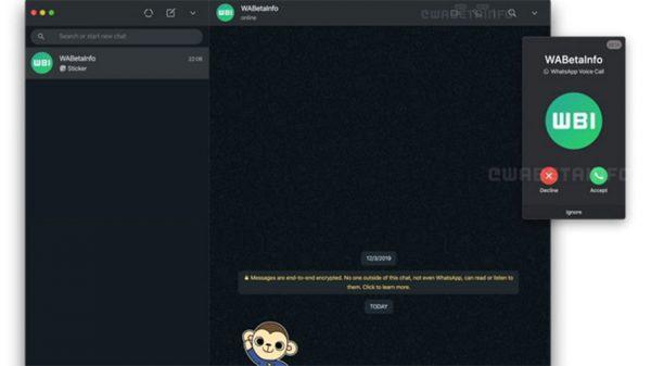 دریافت تماس صوتی و تصویری در واتساپ وب