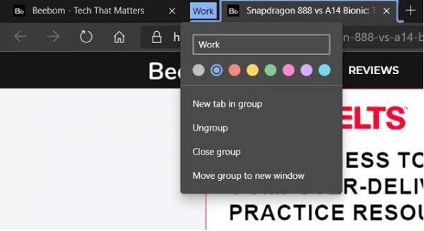 Tab Groups