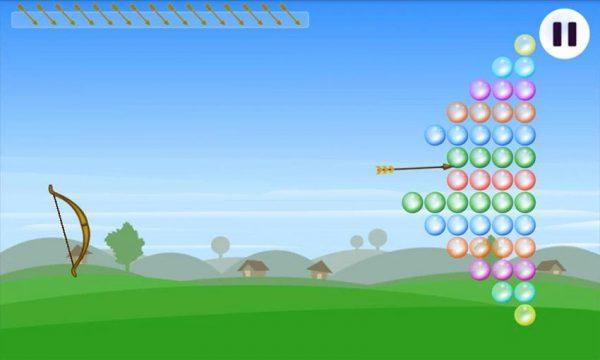 بازی Bubble Archery