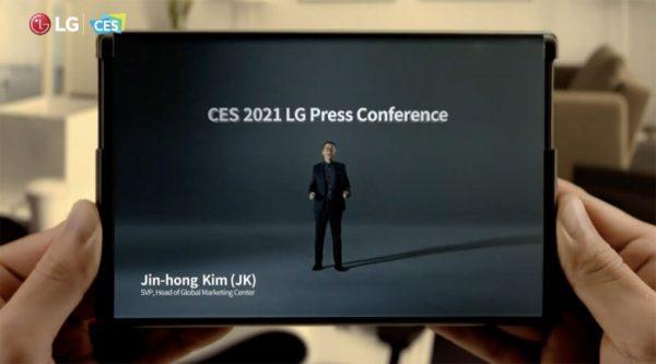 گوشی رول شونده ال جی در CES 2021