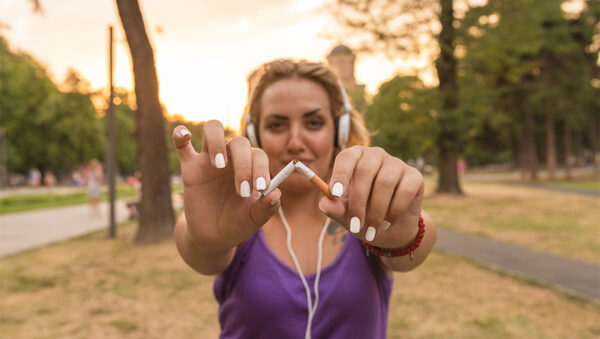 ورزش برای ترک سیگار