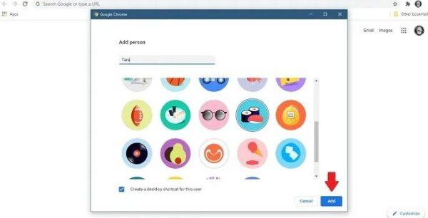 پروفایل جدید در گوگل کروم و فایرفاکس 8