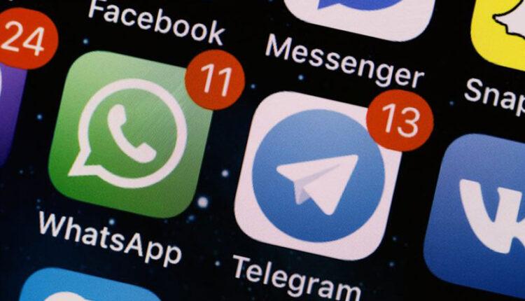 واتساپ و تلگرام