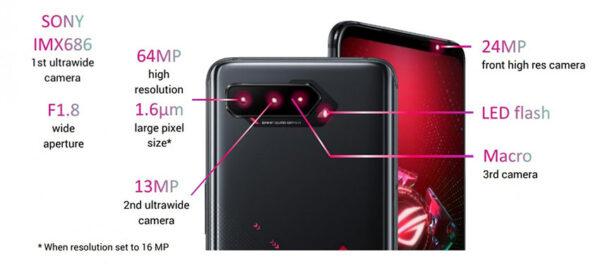 دوربین ایسوس راگ فون 5