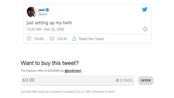 اولین توییت جک دورسی