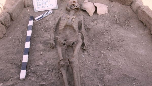 اسکلت کشف شده در شهر باستانی 3400 ساله