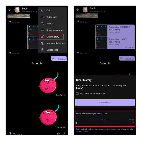 آموزش حذف خودکار پیام های تلگرام 1