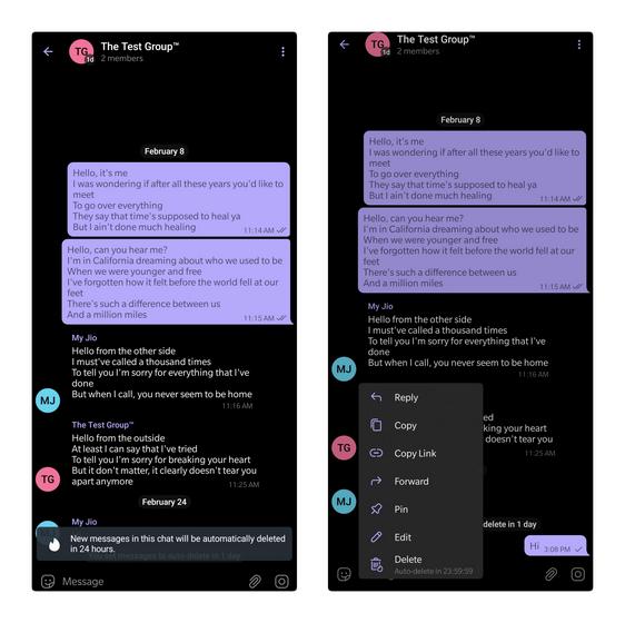 آموزش حذف خودکار پیام های تلگرام 4