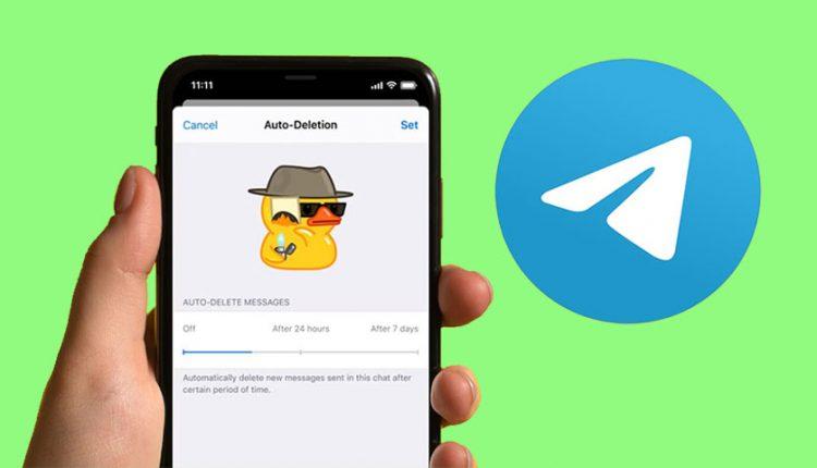 حذف خودکار پیام های تلگرام