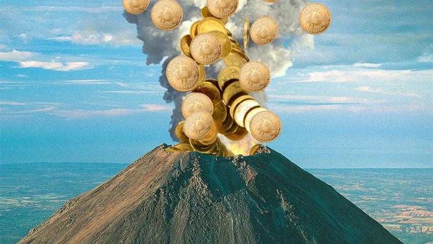 استخراج بیت کوین از آتشفشان