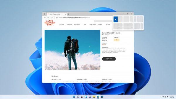 چینش پنجرهها در ویندوز 11